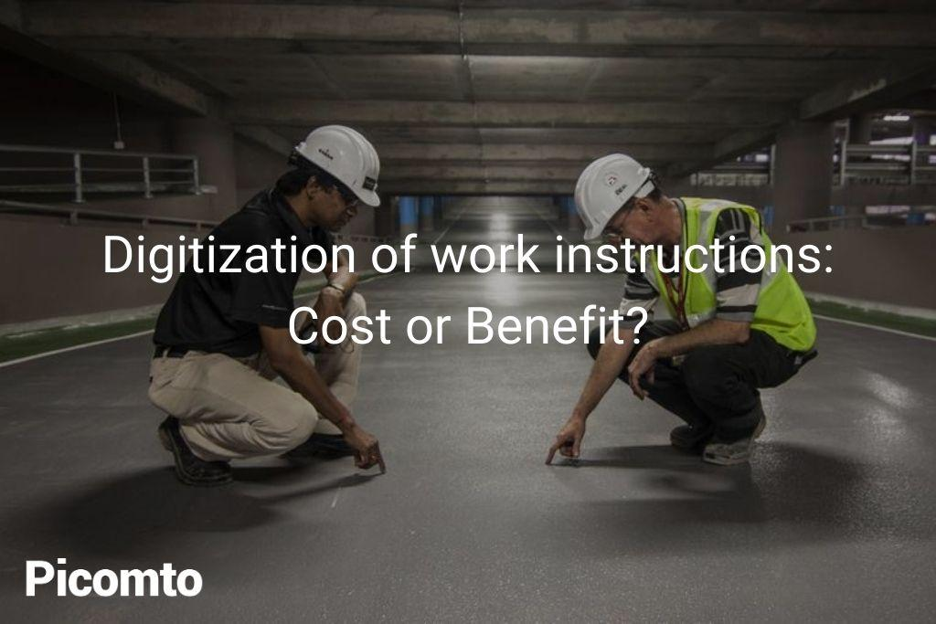 benefit digitization work instructions